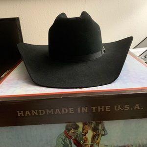 Stetson Top Rail 6X Fur Felt Cowboy Hat Size 7 3/8